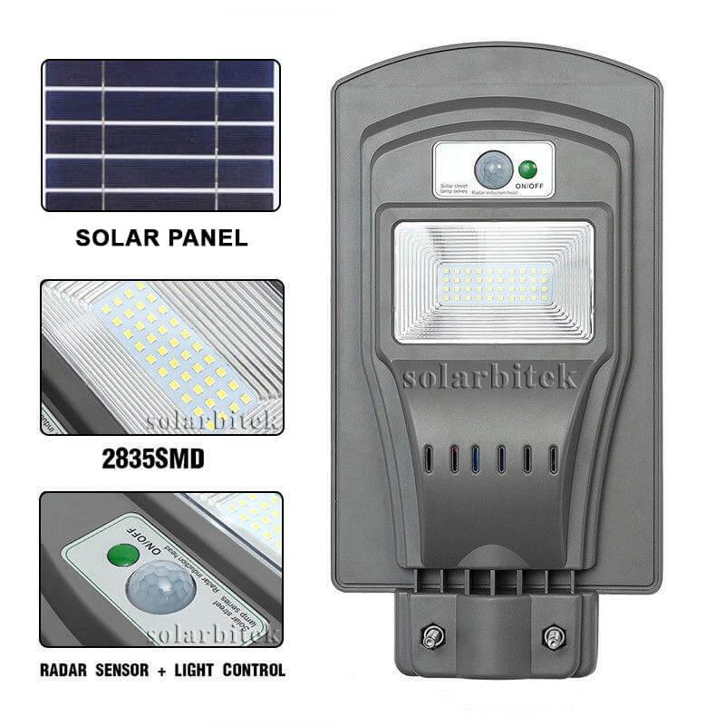 đèn đường năng lượng mặt trời liền thể 20w