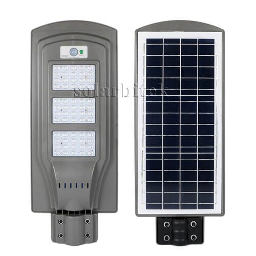 đèn đường năng lượng mặt trời liền thể 60W cao cấp