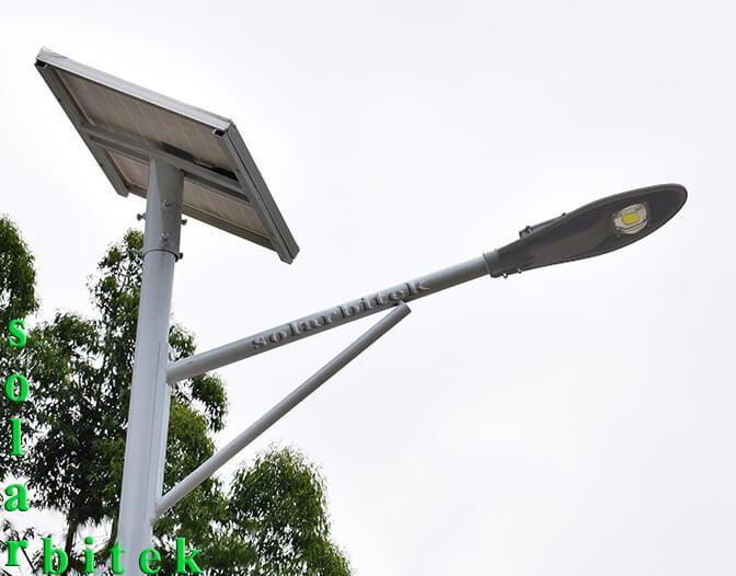 đèn đường năng lượng mặt trời chiếc lá 30w