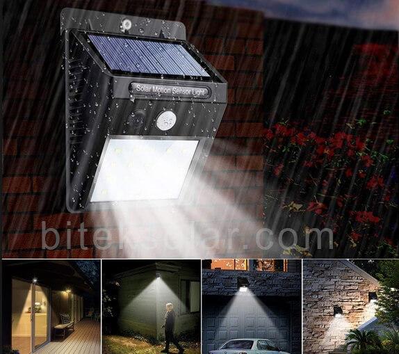 đèn ốp treo tường năng lượng mặt trời 20W BI-WL3020