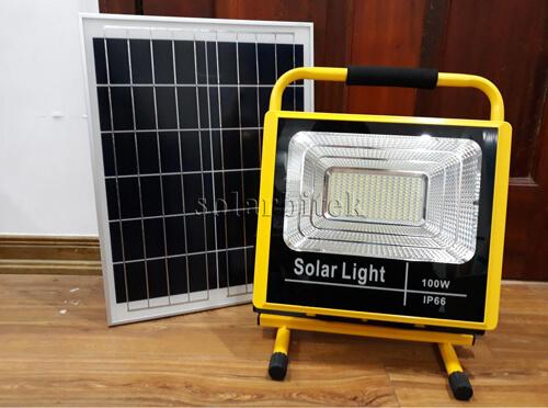đèn pha năng lượng mặt trời xách tay 100w
