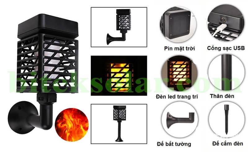 đèn sân vườn năng lượng mặt trời GDL1001