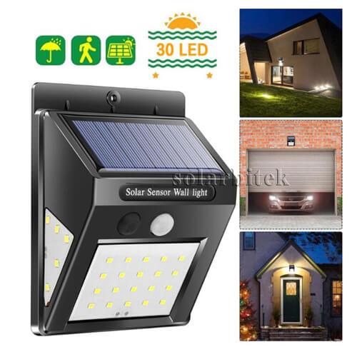 Đèn treo tường năng lượng mặt trời 30w BI-SL3030