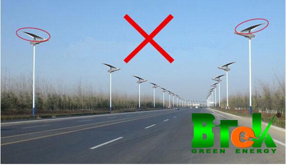 Sai lầm khi lắp đặt đèn đường năng lượng mặt trời