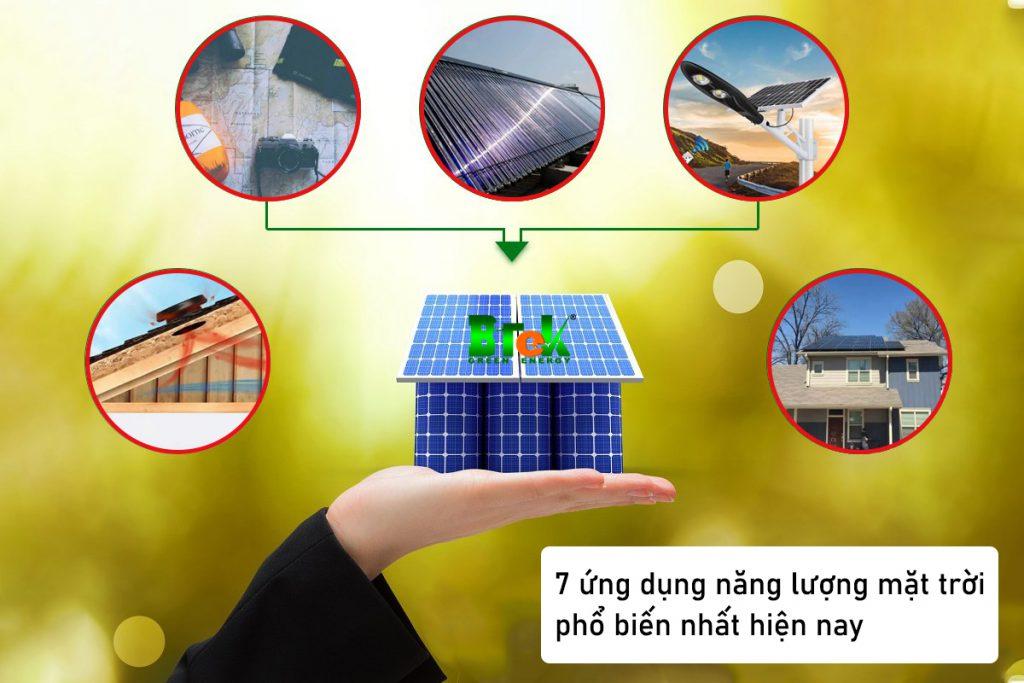 7 ứng dụng năng lượng mặt trời phổ biến nhất