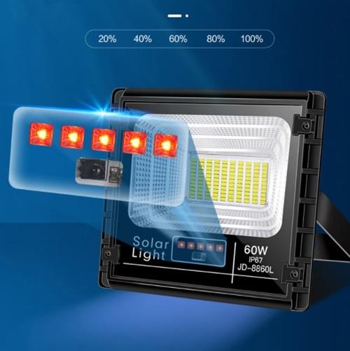 Cảm biến đèn pha năng lượng mặt trời 60W JD-8860L