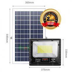 đèn pha năng lượng mặt trời 200w jd-8200l