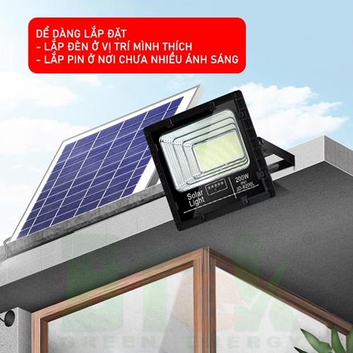 lắp đặt đèn pha năng lượng mặt trời 200w jd-8200l