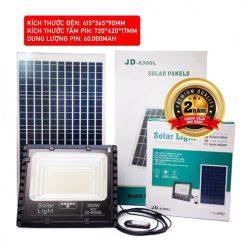 nguyên bộ đèn pha năng lượng mặt trời 300W JD-8300L