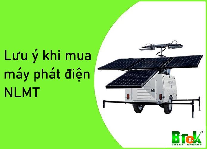 Những lưu ý khi mua máy phát điện năng lượng mặt trời