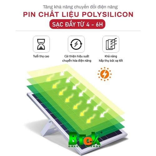 Pin chất liệu nâng cấp đèn pha năng lượng mặt trời