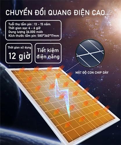 Tấm pin đèn pha năng lượng mặt trời JD-8800L